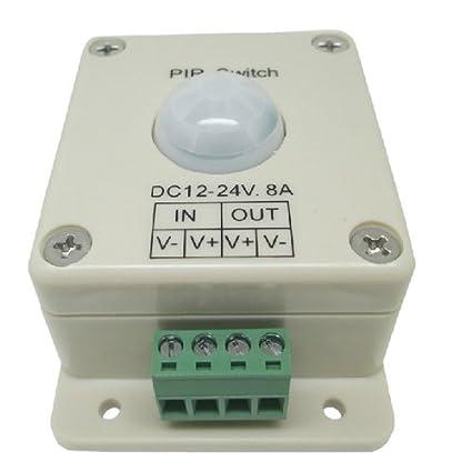 Reino Unido Morelight 8 A 12 V LED PIR sensor de movimiento interruptor regulador de intensidad