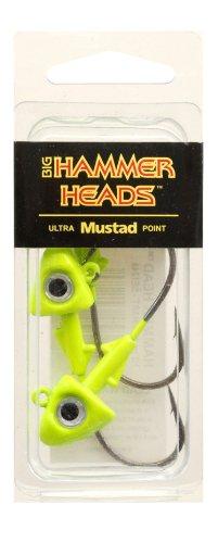 UPC 727562641280, Big Hammer Jig Head with 4/0 Hook, Chartreuse, 1/2-Ounce