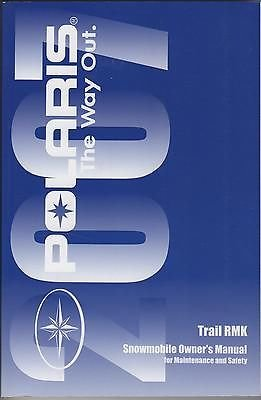 2007 POLARIS SNOWMOBILE TRAIL RMK P/N 9920712 OWNERS/MAINTENANCE MANUAL (810)