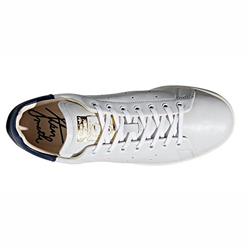 Baskets Adidas Stan Smith en Cuir Blanc pour Homme. Baskets Sneaker CQ3033 White/Collegiate Navy - Recon 09NeoM