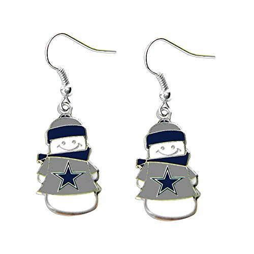 NFL Dallas Cowboys Snowman Earrings