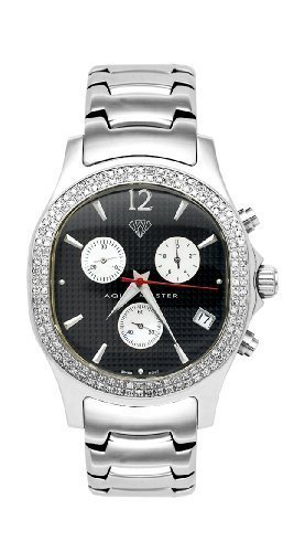 NEW! Aqua Master Men's Oval Diamond Watch, 1.50 ctw by Aqua Master