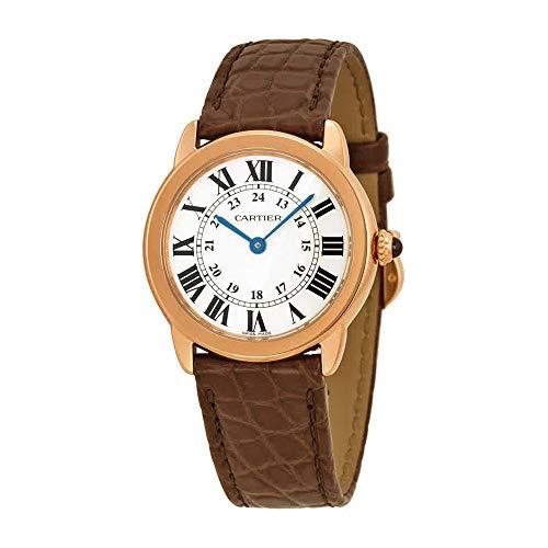 Cartier Ronde Solo De Cartier Silver Dial Brown Leather Ladies Watch W6701007