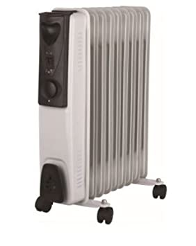 db150b00806 Image Unavailable. Image not available for. Colour  Portable 9 Fin 2kw Electric  OIL FILLED RADIATOR Heater Thermostat Controlled White