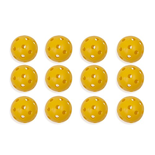 ow Plastic Baseballs: Hollow Wiffle Balls for Sport Practice or Play - 12 Pack ()