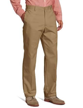 IZOD Men's American Chino Flat Front Pant, English Khaki, 29x30