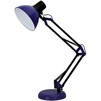 Superior ToJane Blue Desk Lamp, Adjustable Swing Arm Small Desk Lamp For  Bedrooms,Flexible Clamp