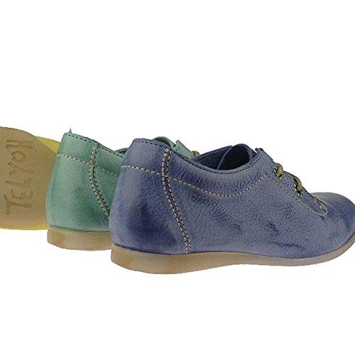 Telyoh Hochwertige Sneaker Premiumqualität chromfreies Leder Y00322 Gr.30-40 Grüntöne