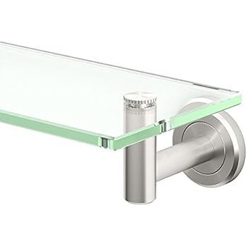 Gatco 4296 Latitude II 20-Inch Glass Shelf, Satin Nickel