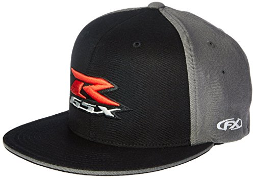 Factory Effex 15-88446 Suzuki 'GSXR' Flex-Fit Hat (Black, Small/Medium)