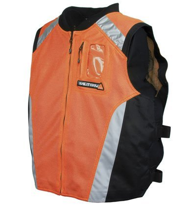 Joe Rocket Military Spec Motorcycle Vest Orange/Black/Silver LG/XL