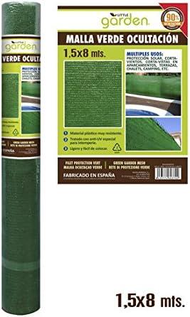 MALLA VERDE OCULTACIÓN 1,5X8 M: Amazon.es: Hogar