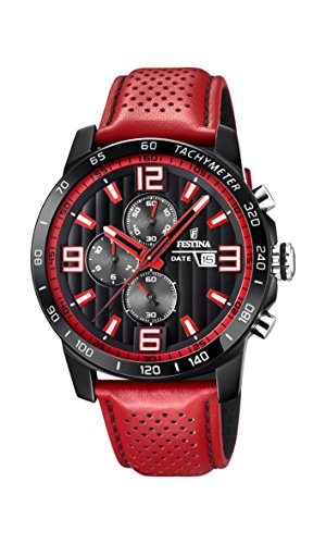 Men's Watch Festina - F20339/5 - Chronograph - Date - Red and Black