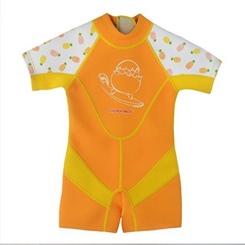 Kiddies Kids & Toddler One Piece Thermal Neoprene Swimsuit, Age 3-4, Orange