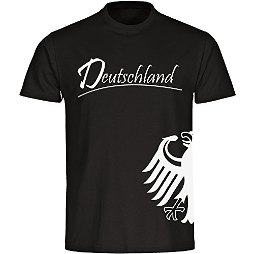 T-Shirt Deutschland Adler seitlich Herren schwarz Gr. S - 5XL Germany Deutschland