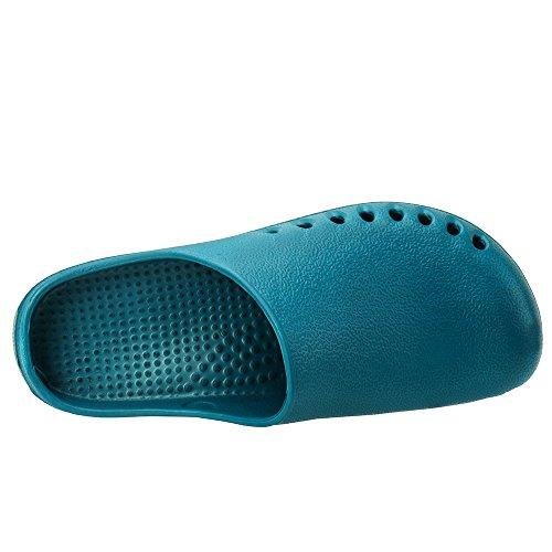 Cooga Ultralite Womens Comfy Nursing Clogs No Smell Ademend Garden Shoes Lake Blue