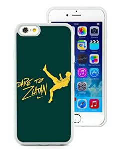 Unique iPhone 6/iPhone 6S TPU Case ,Fashionable And Durable Designed Case With Dare To Zlatan Green White iPhone 6/iPhone 6S TPU Phone Case