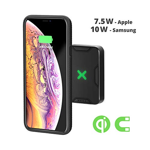 (XVIDA Magnetic Qi Wireless Charging Pad Wall Dock Mount (7.5/15W) for XVIDA Cases for iPhone Xs, Xs Max, iPhone X/8/8 Plus, iPhone X, Samsung)