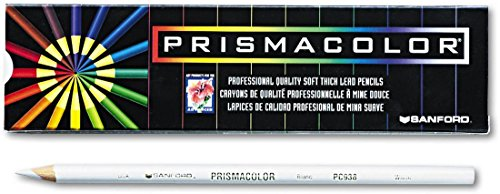 Prismacolor 3365 Premier Soft Core Colored Pencil, White Pack of 12 by Prismacolor