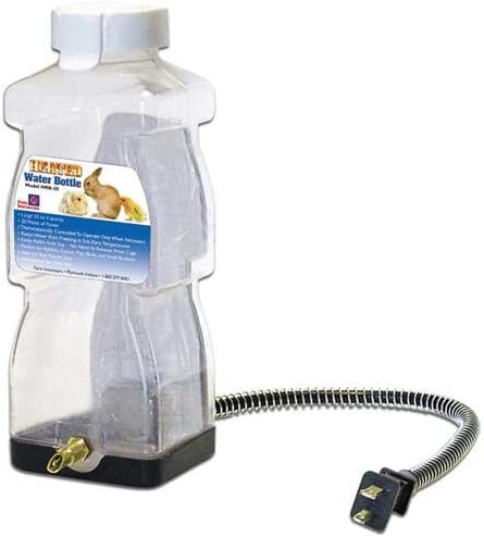 B000TZ7496 Farm Innovators Model HRB-20 Heated Water Bottle for Rabbits, 32-Ounce, 20-Watt 41iIApDKAPL