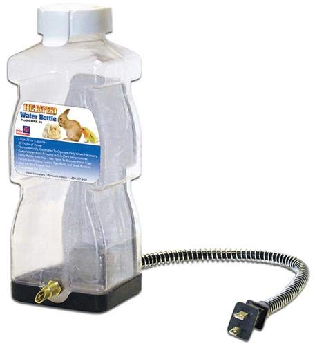 Farm Innovators Model HRB-20 Heated Water Bottle for Rabbits, 32-Ounce, 20-Watt