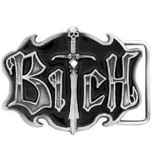 Siskiyou Bitch Antiqued Belt Buckle