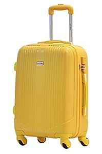 Maleta cabina 55cm - Trole ALISTAIR AIRO - ABS extremista Ligero - 4 ruedas - Amarillo
