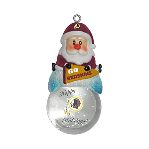 NFL Washington Redskins Snow Globe Ornament, Silver, 1.5