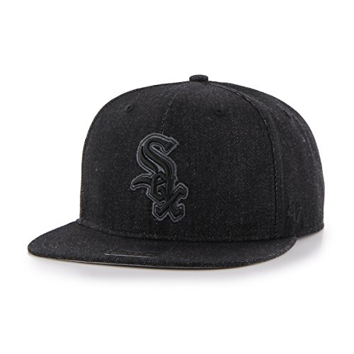 MLB Chicago White Sox Nero Captain Adjustable Hat, Black, On