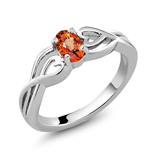 orange gem stone - 8