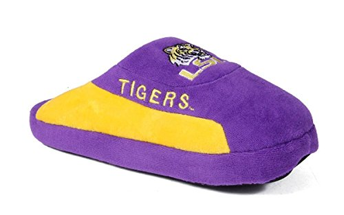 LSU07-1 - Louisiana State Tigers - Small - Happy Feet Mens and Womens - NCAA Low Pro Slippers