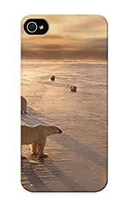 Hugetree High Grade Flexible Tpu Case For Iphone 5/5s - Animals Bears Polarbears Arctic Winter Seasons Ice Sunlight ( Best Gift Choice For Thanksgiving Day)