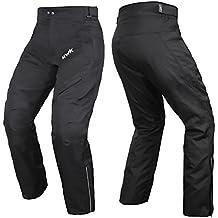 HWK Mens Black Textile Breathable Waterproof CE Armoured Motorbike Overpants Motorcycle Trousers/Pants - 1 year Guarantee …