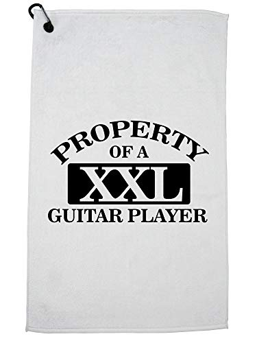 Hollywood Thread Cool Property of A XXL Guitar Player Golf Towel with Carabiner Clip ()