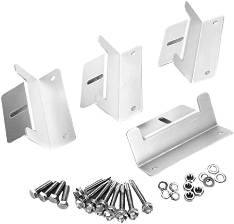 DeoMeat Aluminium-Legierung Z-Typ Sonnenkollektor Dachmontagewinkel (4 Stück Silber)