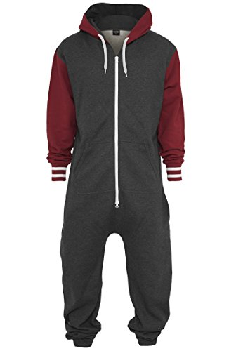 Charcoal College Urban Tuta ruby Classics Jumpsuit Uomo Sweat 7HOOxYwFq