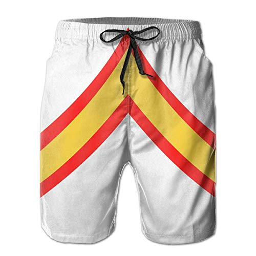 Trikahan USMC Private First Class E2 Men Summer Casual Beach Shorts Quick Dry Swimming Shorts with Pockets White