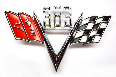 ersal Chevrolet 383 Cross Flag Emblem ()