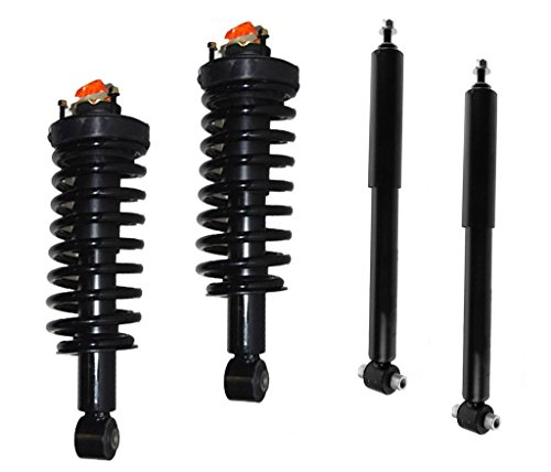 DTA 70097A Full Set 2 Front Complete Struts with Springs and Mounts + 2 Rear Shocks 4-pc Set, 2001-2002 Toyota Sequoia