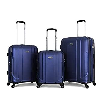 Titan hardside Spinner Luggage set of 3 pieces with 3 digit number lock, Blue