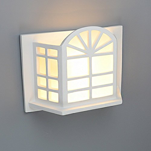 HOMEE Wall lamp- modern simple creative gypsum wall lamp bedroom bedside living room tv background wall aisle balcony wall lamp --wall lighting decorations by HOMEE