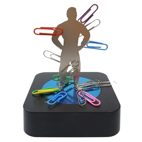 Magnetic Sculpture Paperclip Holder - Male