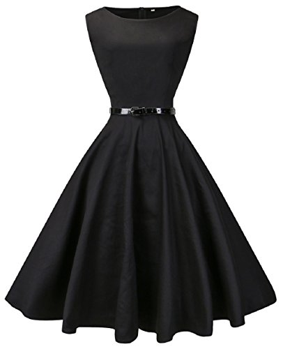 Black Plus Boatneck Dress - 5
