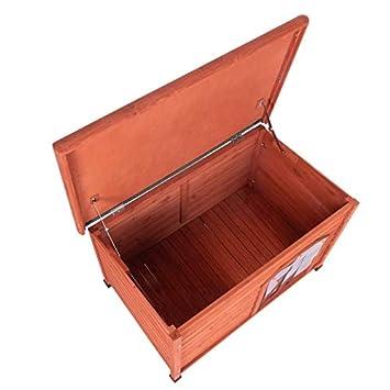 Caseta para Perros Woody L: 115 x 76 x 80 cm (An x P x Al): Amazon.es: Productos para mascotas
