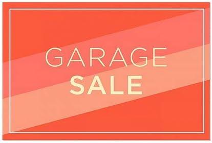 Garage Sale CGSignLab 30x20 5-Pack Stripes Blue Clear Window Cling
