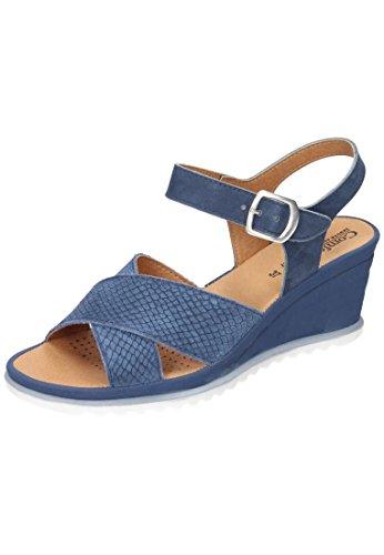 Comfortabel Damen-Sandale Blau 710827-5, Grösse 36