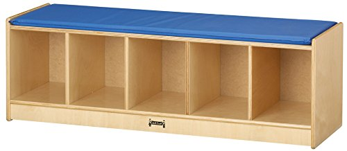 Jonti-Craft 9093JC 5 Section Bench Locker with Blue (Five Section Locker)