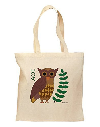 tooloud Eule von Athena Lebensmittels Tasche–Natural by tooloud