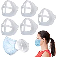 3D Inner Support Frame for Face Mask 5PCS Breathable Reusable Washable Stand Silicone Easy Breathing Comfortable…