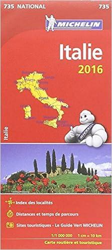 Carte Italie Michelin.Amazon Fr Carte Italie 2016 Michelin Collectif Michelin